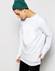 Pullandbear Sweatshirt With Placement Print White