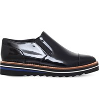 Vince Alona Patent Leather Oxford Shoes Black
