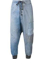 Greg Lauren Loose Fit Jeans Blue