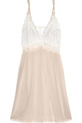 Mimi Holliday Mr Whippy Lace Paneled Silk Chiffon Chemise