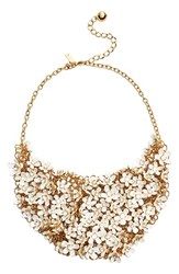 Women's Kate Spade New 'Pretty Petals' Embellished Bib Necklace White Multi
