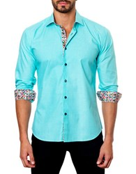 Jared Lang Confetti Contrast Sportshirt Mint