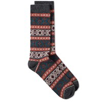Anonymous Ism Jacquard Crew Sock Grey