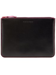 Comme Des Garcons Play 'Marvellous' Zip Wallet Pink And Purple