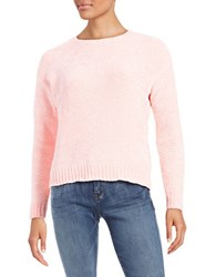 Lord And Taylor Boxy Chenille Pullover Sweetheart