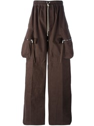 Rick Owens 'Pannier' Cargo Trousers Brown