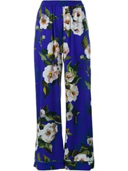 Dolce And Gabbana Silk Pyjama Trousers Multicolour