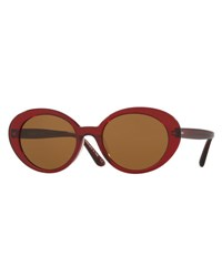 Oliver Peoples Parquet Monochromatic Oval Sunglasses Burgundy Black Burgundy Brown
