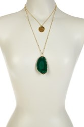 Leila Double Strand Affirmations Agate Necklace Green