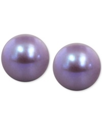 Honora Style Violet Cultured Freshwater Pearl Stud Earrings In Sterling Silver 9Mm