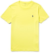 Polo Ralph Lauren Slim Fit Cotton Jersey T Shirt Yellow