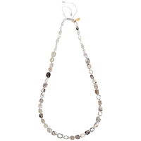 Lola Rose Stacey Multi White Agate Necklace White