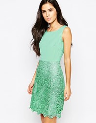 True Decadence Dress With Crochet Skirt Green