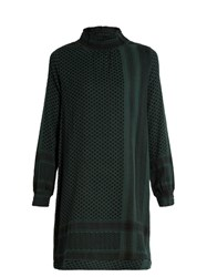 Cecilie Copenhagen Claremint Scarf Jacuqard Cotton Dress Dark Green
