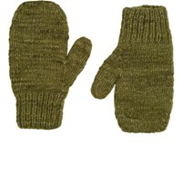 The Elder Statesman Women's Brushed Cashmere Mittens Dark Green