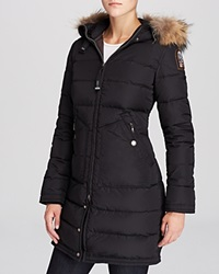 Parajumpers Light Long Bear Coat With Fur Hood