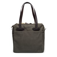 Filson Green Zippered Tote Bag