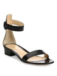 Gianvito Rossi Leather Ankle Strap Flat Sandals Black