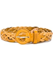 Closed Woven Belt Yellow And Orange