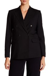 Helmut Lang Double Breasted Fine Wool Gabardine Blazer Black