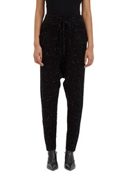 Baja East Flecked Knit Track Pant Black