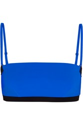 Alexander Wang Two Tone Bandeau Bikini Top Blue