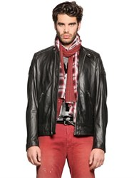 Diesel Light Nappa Leather Moto Jacket