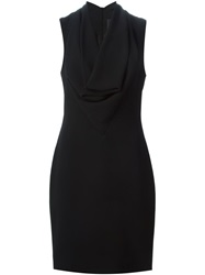 Gareth Pugh Cowl Neck Dress Black