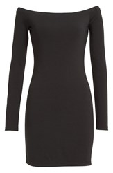 Alexander Wang Women's T By 'The Lux' Ponte Knit Off The Shoulder Sheath Dress