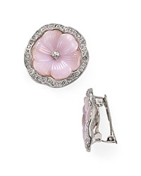 Kenneth Jay Lane Pansy Clip On Earrings Lavender