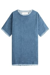 Marques Almeida Oversize Denim Top Blue