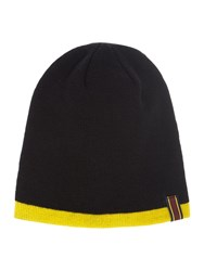 Lyle And Scott Golf Reversible Beanie Hat Black