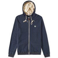 Fred Perry X Nigel Cabourn Training Hooded Sweat Blue