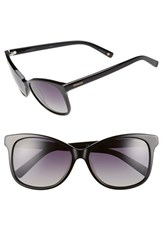 Women's Polaroid Eyewear 57Mm Polarized Cat Eye Sunglasses Black Grey Polarized