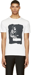 Marc By Marc Jacobs White And Black The End Print T Shirt