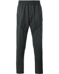 Givenchy Wool Blend Flannel Sweatpants Grey Flannel Black White