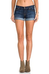 7 For All Mankind Roll Up Short Blue