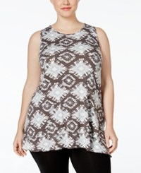 Styleandco. Style Co. Plus Plus Size Tie Dyed Sleeveless Top Only At Macy's Grey Combo