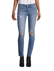 Levi's 711 Distressed Mid Rise Skinny Jeans Goodbye Heart