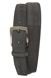 Men's Magnanni 'Crosta' Suede Belt Grey