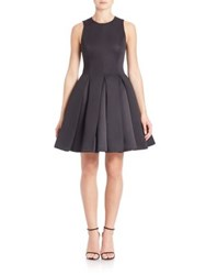 Halston Structured Fit And Flare Dress Black