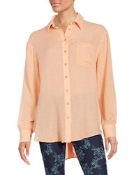 Free People That's A Wrap Oversized Oxford Shirt Pink