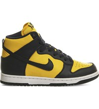 Nike Dunk Retro Qs Leather High Top Trainers Midnight Navy Qs