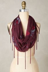 Anthropologie Roseat Infinity Scarf Wine