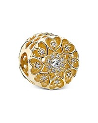 Pandora Design Pandora Charm 14K Gold And Cubic Zirconia Hearts Of Gold Moments Collection