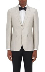 Burberry X Barneys New York Men's Silk Shantung Two Button Sportcoat Silver