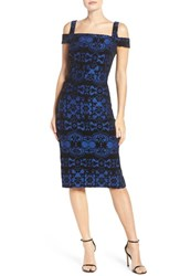 Eci Women's Flocked Midi Dress