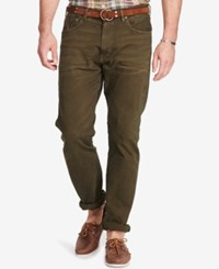 Polo Ralph Lauren Men's Big And Tall Hampton Straight Fit Stretch Jeans Hunter Olive