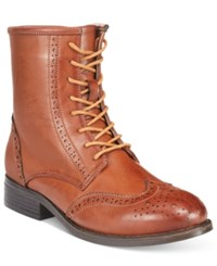 Wanted Rickey Lace Up Oxford Booties Women's Shoes Cognac
