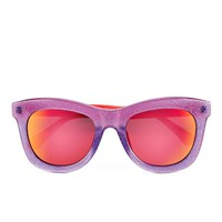 Markus Lupfer Women's Glitter Neon Orange Sunglasses Lilac